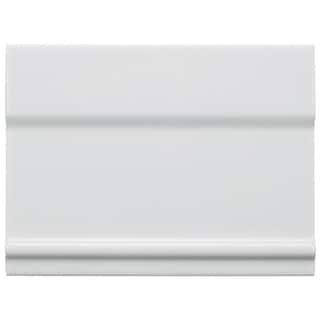 SomerTile 6x8-inch Thera Blanco Ceramic Zocolo Base Trim Wall Tile (Case of 26)