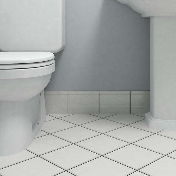 Shop SomerTile Xinch Thera Blanco Ceramic Zocolo Structural Base - 6x8 bathroom