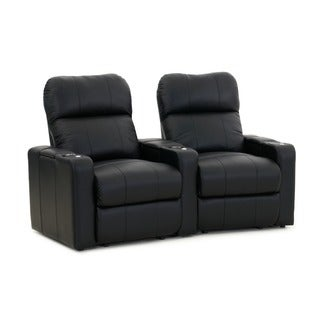 Octane Turbo XL700 Curved/ Power Recline/ Black Bonded Leather Home Theater Seating (Row of 2)
