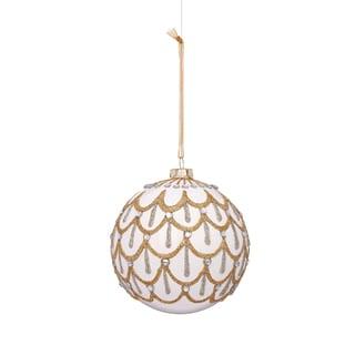 Drape Pattern Glass Ball 4.5-inch Ornament (Set of 6)