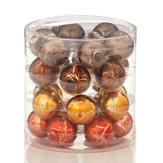 Glass Crackled Ball Ornament 24 Pieces 4 Each 1-inch