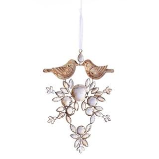 Crystal Love Bird Ornament 5.75-inch (Set of 6)