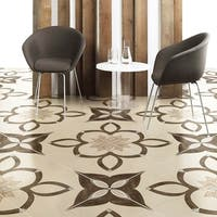 SomerTile 17.75x17.75-inch Argolis Natural Ceramic Floor and Wall Tile (10 tiles/21.85 sqft.)