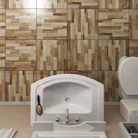 SomerTile 17.75x17.75-inch Denton Beige Ceramic Floor and Wall Tile (10 tiles/21.85 sqft.)