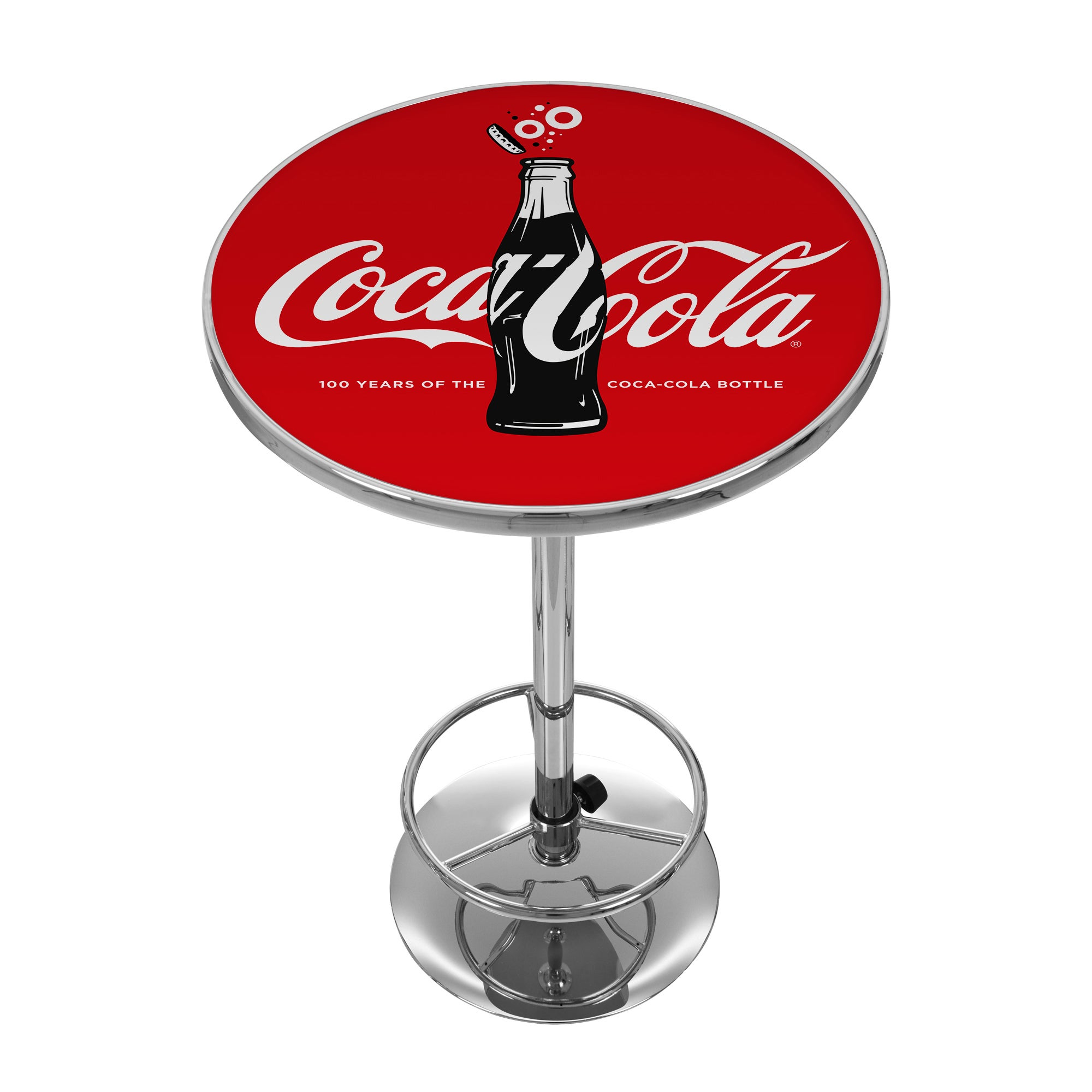 Trademark Gameroom Coca-Cola Chrome Pub Table - 100th Ann...