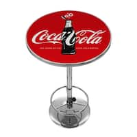 Coca-Cola Chrome Pub Table - 100th Anniversary of the Coca-Cola Bottle
