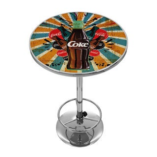 Coca Cola Brazil Color Splash Coke Bottle Pub Table