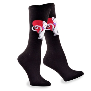 Women's Valentine's Day Cat Love in Heart Women's Cotton Crew Sock