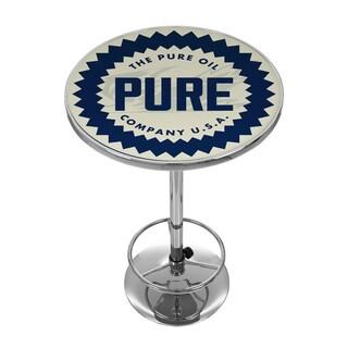 Pure Oil Chrome Pub Table