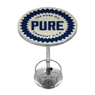 Pure Oil Chrome Pub Table