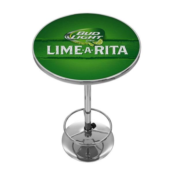 Bud Light Lime-A-Rita Chrome Pub Table