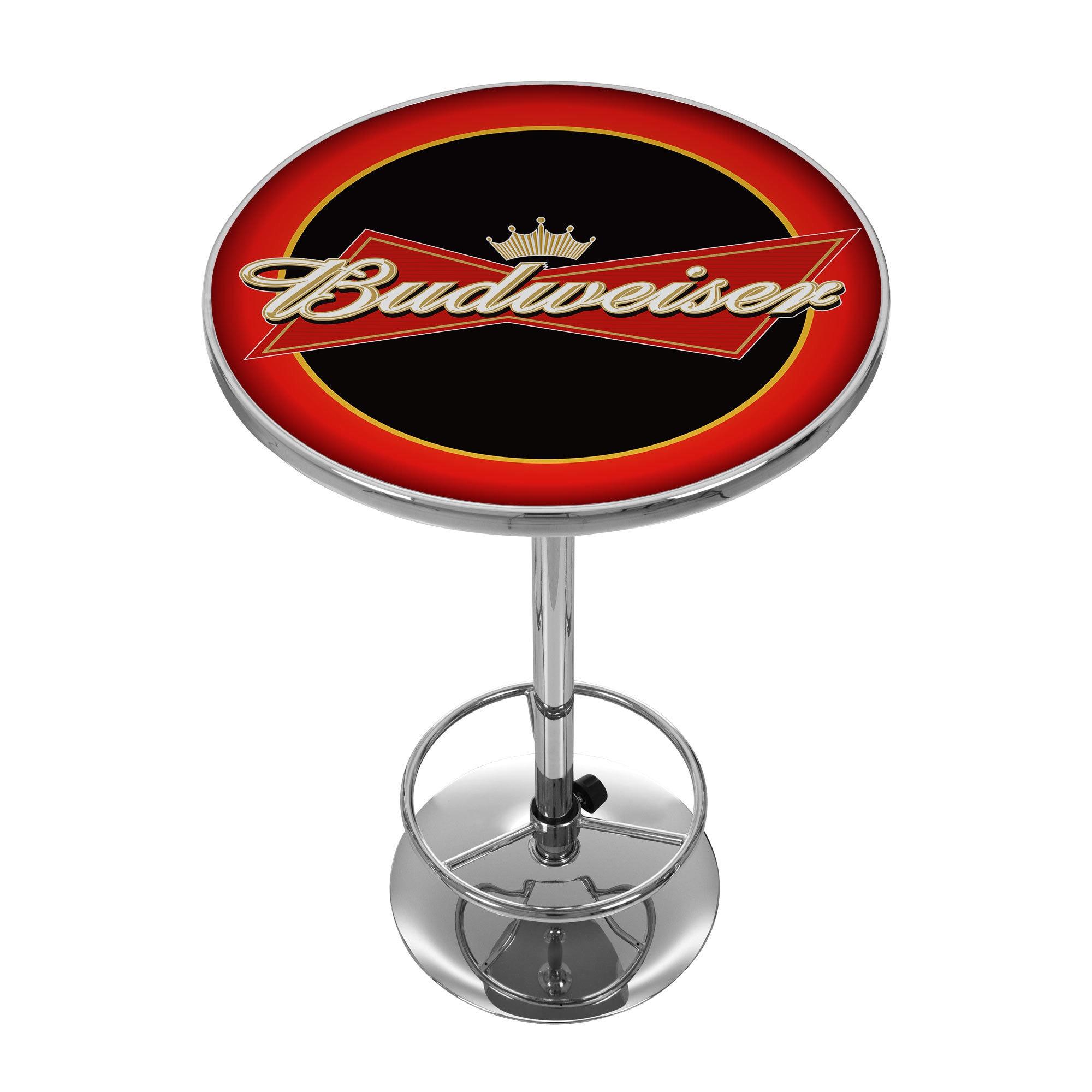 Trademark Gameroom Budweiser Bowtie Red and Black Pub Tab...