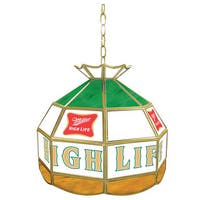 Miller High Life Stained Glass Tiffany Lamp - 16 Inches