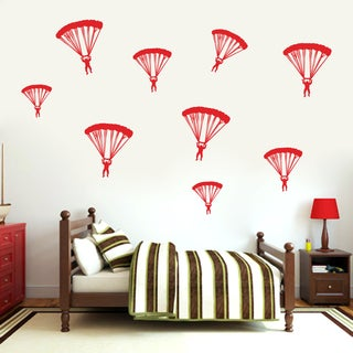 Set of Paratroopers Wall Decal
