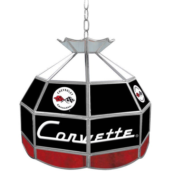 Corvette Stained Glass Tiffany Lamp - 16 inch diameter