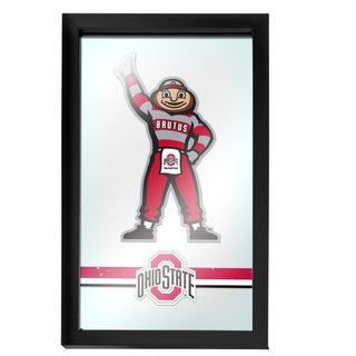 Ohio State Stripe Brutus Framed Logo Mirror
