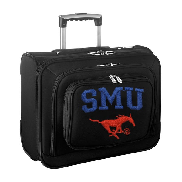 Denco Sports Legacy NCAA SMU Mustangs Carry On 14-inch Laptop Rolling Overnight Tote