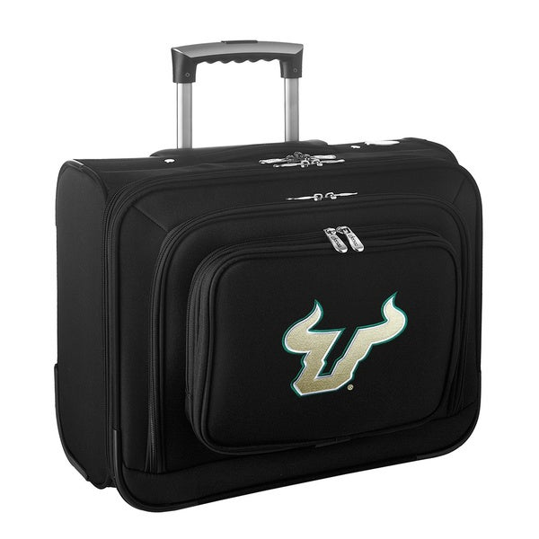 Denco Sports Legacy NCAA South Florida Bulls Carry On 14-inch Laptop Rolling Overnight Tote