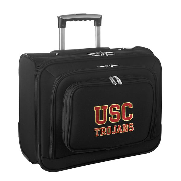 Denco Sports Legacy NCAA USC Trojans Carry On 14-inch Laptop Rolling Overnight Tote