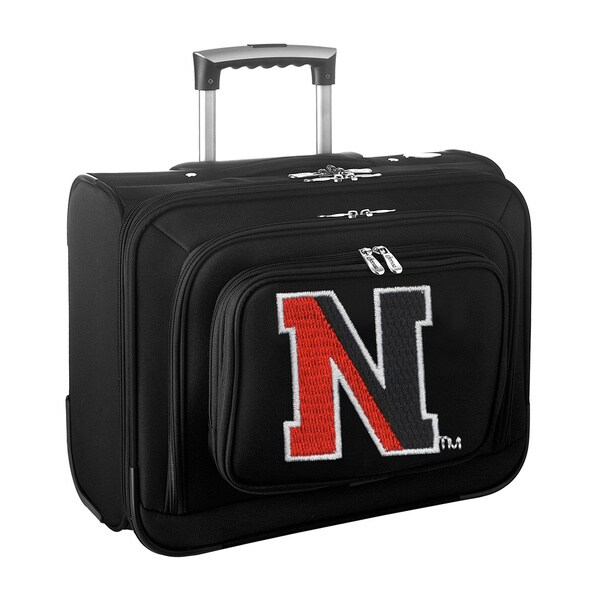 Denco Sports Legacy NCAA North Eastern Huskies Carry On 14-inch Laptop Rolling Overnight Tote