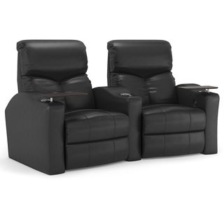 Octane Bolt XS400 Curved/ Power Recline/ Black Bonded Leather Home Theater Seating (Row of 2)