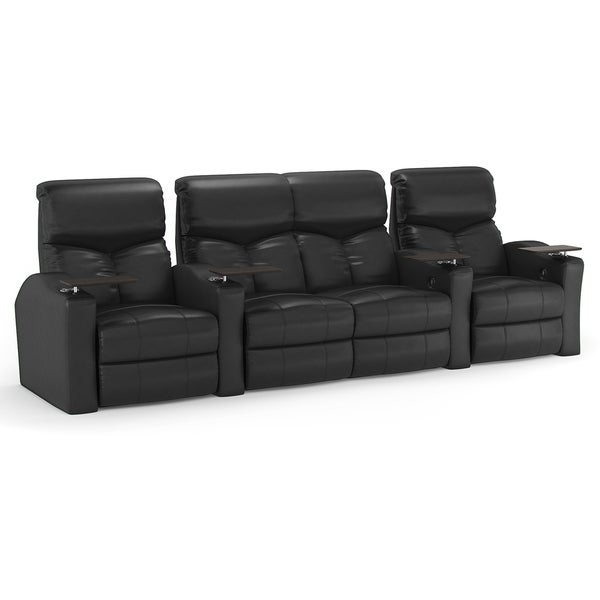 Octane bolt xs400 straight with middle loveseat power recline black bonded leather home Loveseat theater seating