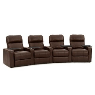 Octane Turbo XL700 Curved/ Power Recline/ Brown Premium Leather Home Theater Seating (Row  sc 1 st  Overstock.com & Theater Seating Living Room Furniture - Shop The Best Deals for ... islam-shia.org