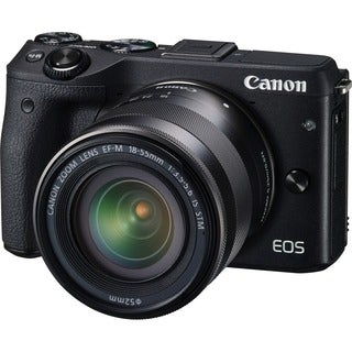Canon EOS M3 24.2 Megapixel Mirrorless Camera with Lens - 18 mm - 55
