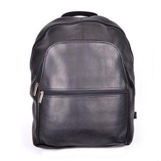 Royce Leather Colombian Leather 15-inch Laptop Backpack