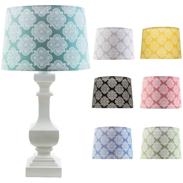 Traditional Luci Table Lamp with Painted Resin Base