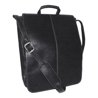 Royce Leather Colombian Leather Vertical 17-inch Laptop Messenger Bag