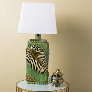 Contemporary Madi Table Lamp with Painted Resin Base