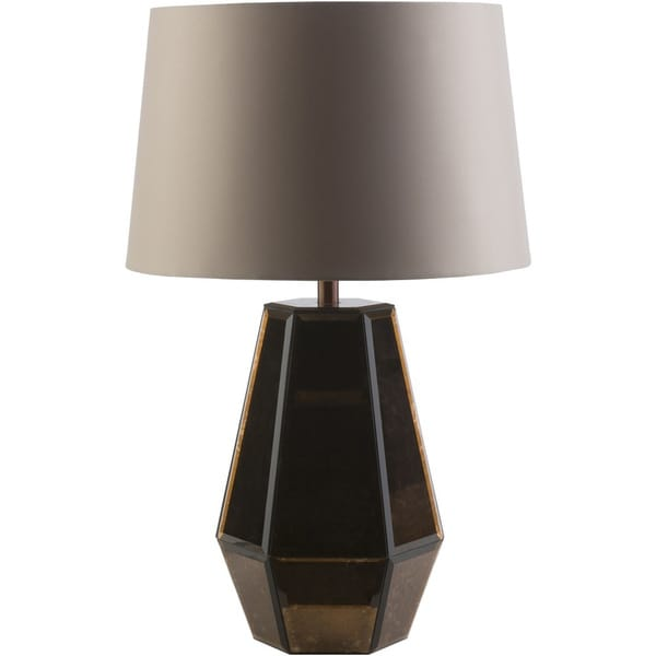 Contemporary Hythe Table Lamp With Pewter Finish Glass Base Free