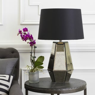 Contemporary Hythe Table Lamp with Pewter Finish Glass Base