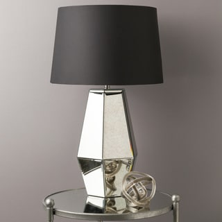 Contemporary Henry Table Lamp with Pewter Finish Glass Base