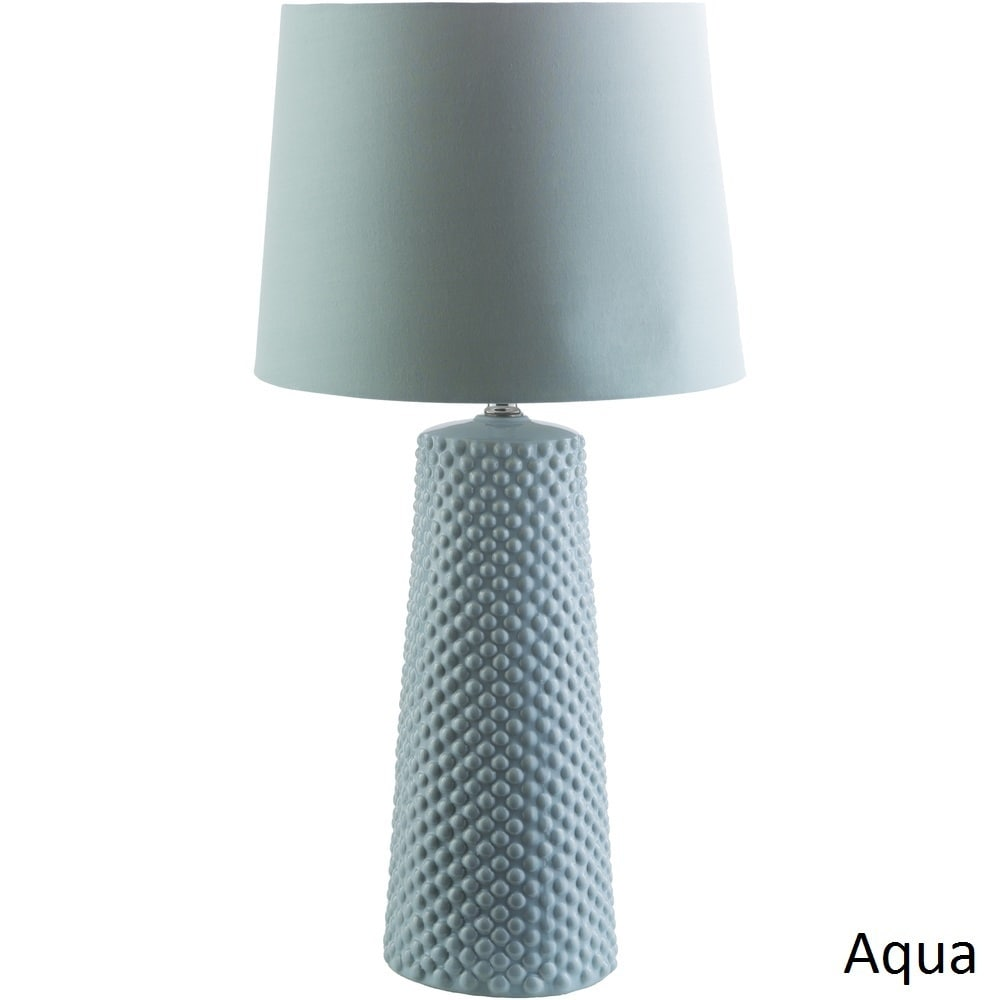 SURYA Contemporary Hayle Table Lamp with Glazed Ceramic B...