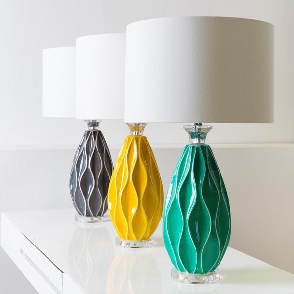 Strick & Bolton Tatum Table Lamp with Glazed Ceramic Base