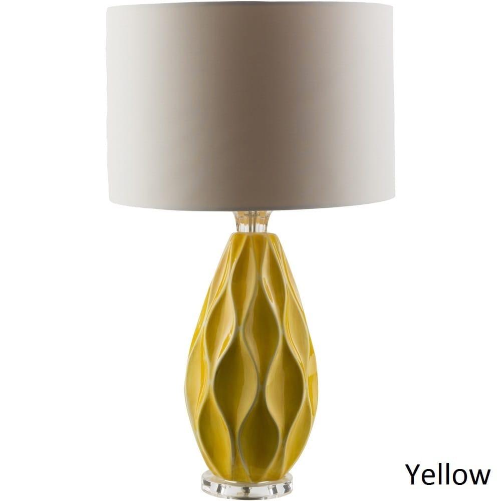 Strick & Bolton Tatum Table Lamp with Glazed Ceramic Base...
