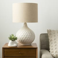 Rustic Emma Table Lamp with Glazed Ceramic Base