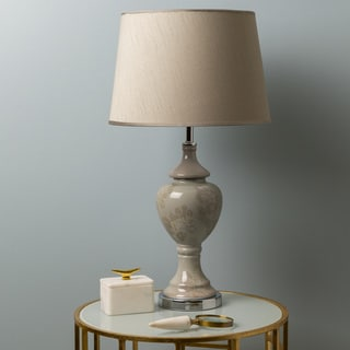 Casual Fowey Table Lamp with Glazed Ceramic Base