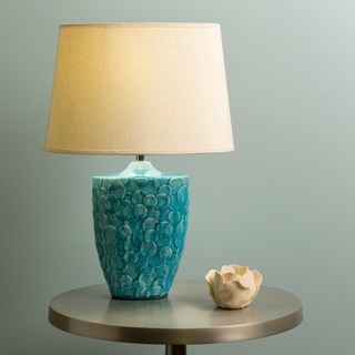 Modern Finn Table Lamp with Glazed Ceramic Base
