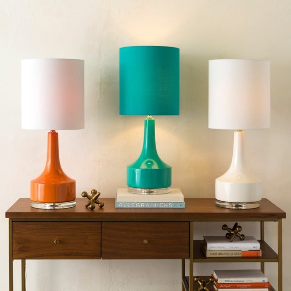 Modern Emily Table Lamp with Glazed Ceramic Base