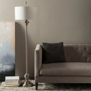 Traditional Liam Floor Lamp with Brushed Nickel Finish Steel Base