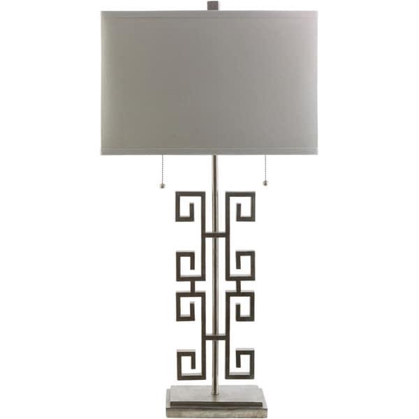 Janet Gilded Silver Greek Key Table Lamp