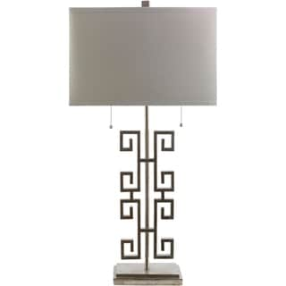 Contemporary Janet Floor Lamp with Silver Finish Iron Base