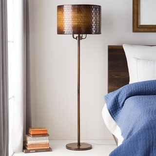 Rustic Dara Floor Lamp with Iron Finish Iron Base