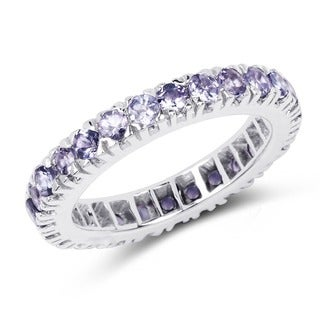 Malaika Sterling Silver 1 3/4ct Tanzanite Ring