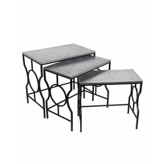 Privilege International Black/ Silver 3 Piece Galvanized Nesting Stands