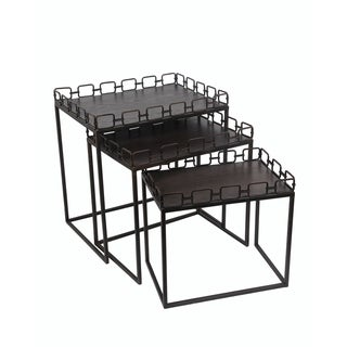 Privilege Rusted Black 3-piece Nesting Tables