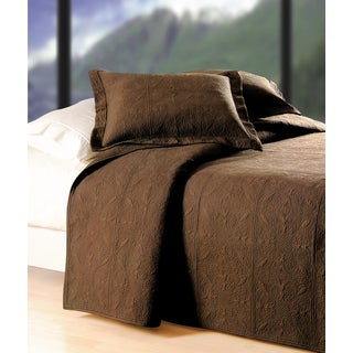 Chocolate Brown Matelasse Quilt (Shams Not Included)